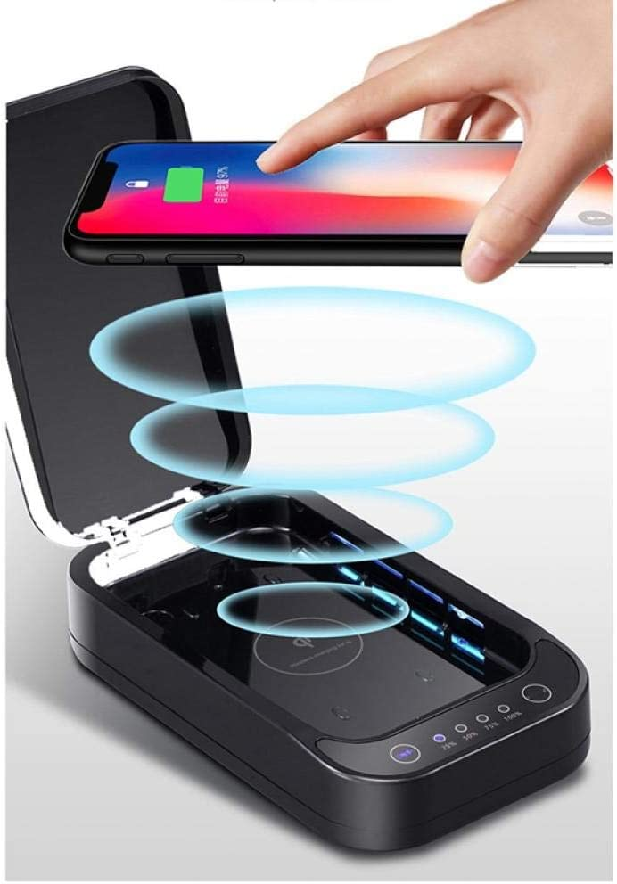Generichaoge esterilizador UV port/átil con funci/ón de aromaterapia adecuado para todos los art/ículos peque/ños cargador USB para tel/éfono m/óvil