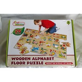 Amazon Com First Learning 26 Piece Wooden Alphabet Floor