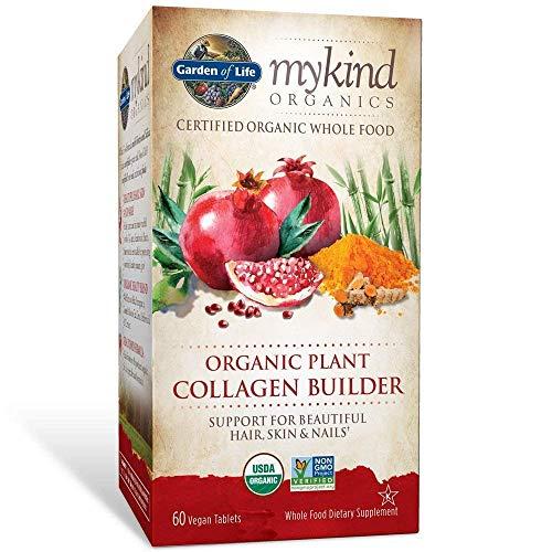 (Garden of Life mykind Organic Plant Collagen Builder - Vegan Collagen Builder for Hair, Skin and Nail Health, 120 Tablets)