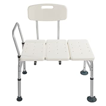 Azadx Bath Chair Adjustable Handicap Shower Chair Seat Bench Transfer Bench with Arms and Backs  sc 1 st  Amazon.com & Amazon.com: Azadx Bath Chair Adjustable Handicap Shower Chair Seat ...