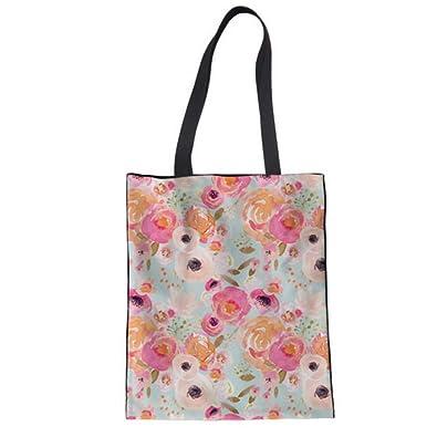 Mzdpp Bolsos De Las Mujeres Floración Rosa Flores Impresión ...