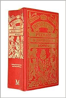 Book Debrett's Peerage and Baronetage 1985