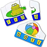 Learning Resources Match and Spell Word Puzzle Cards, 4-Letter Spelling Puzzle Cards