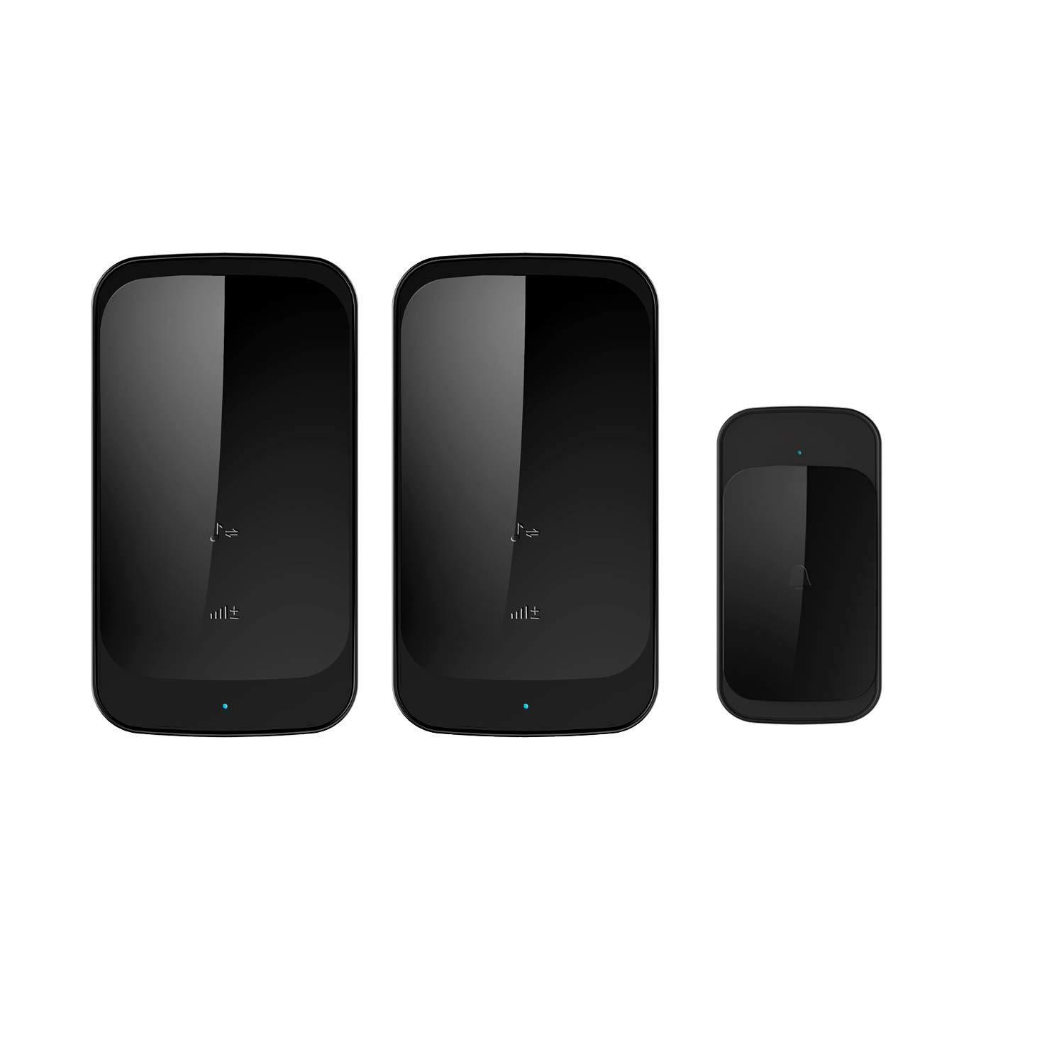 Anbear Wireless Doorbell with 2 Receivers Wireless Door Chime IP44 Waterpoof Operating at 900 Feet with 58 Melodies, 4 Volume Levels