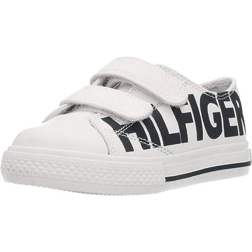 Zapatillas para niño, Color Blanco, Marca TOMMY HILFIGER, Modelo Zapatillas para Niño TOMMY HILFIGER Sneaker Bassa Velcro Blanco: Amazon.es: Zapatos y ...