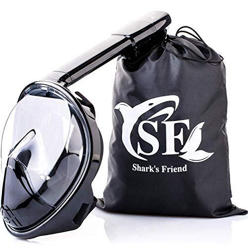 Face Snorkel Mask - Scuba Diving Full Face Mask - Underwater Snorkeling Masks for Adults Kids - Best Dry Snorkel Mask - Swim Mask for Women Men Children - Easy 180 Panoramic Full View Sea Dive Mask