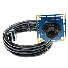 ELP Mini USB Camera Module Video Camera HD 1080P with 3.6 mm Lens