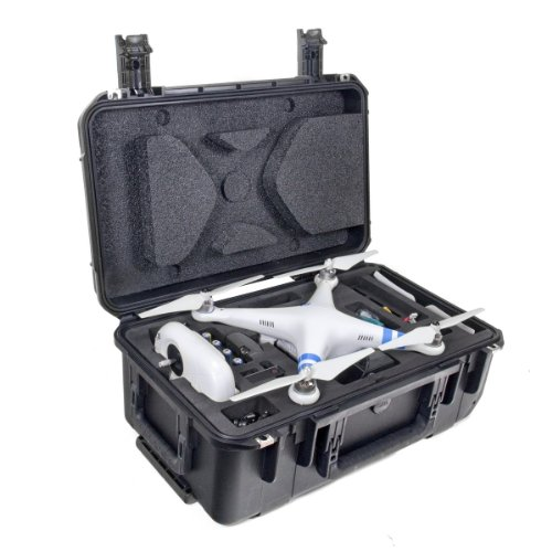 CasePro CP-PHAN-CO1 DJI Phantom Quadcopter/GoPro Carry-On Hard Case, 22'' Length, 14.75'' Width, 9.5'' Height, Black by ProCase