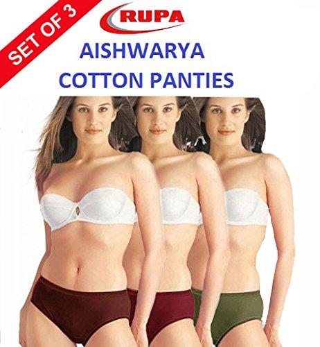 1b7aa8902de3 Rupa Aishwarya Premium Multicolor Cotton Panties - Set of 3: Amazon.in:  Clothing & Accessories