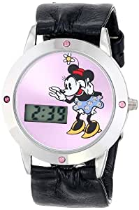 Disney Kids' MN1026 Minnie Mouse Digital Pink Sunray Dial Watch