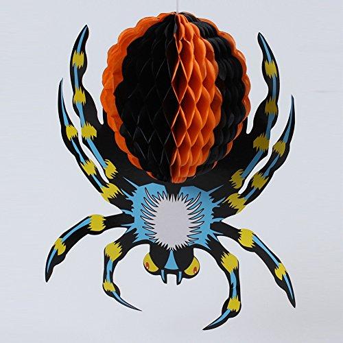 Pinhead Prop (Zehui Ornaments Hanging Ornaments Lanterns Halloween Three-Dimensional Spider Decorations Props Big Butt Spider)