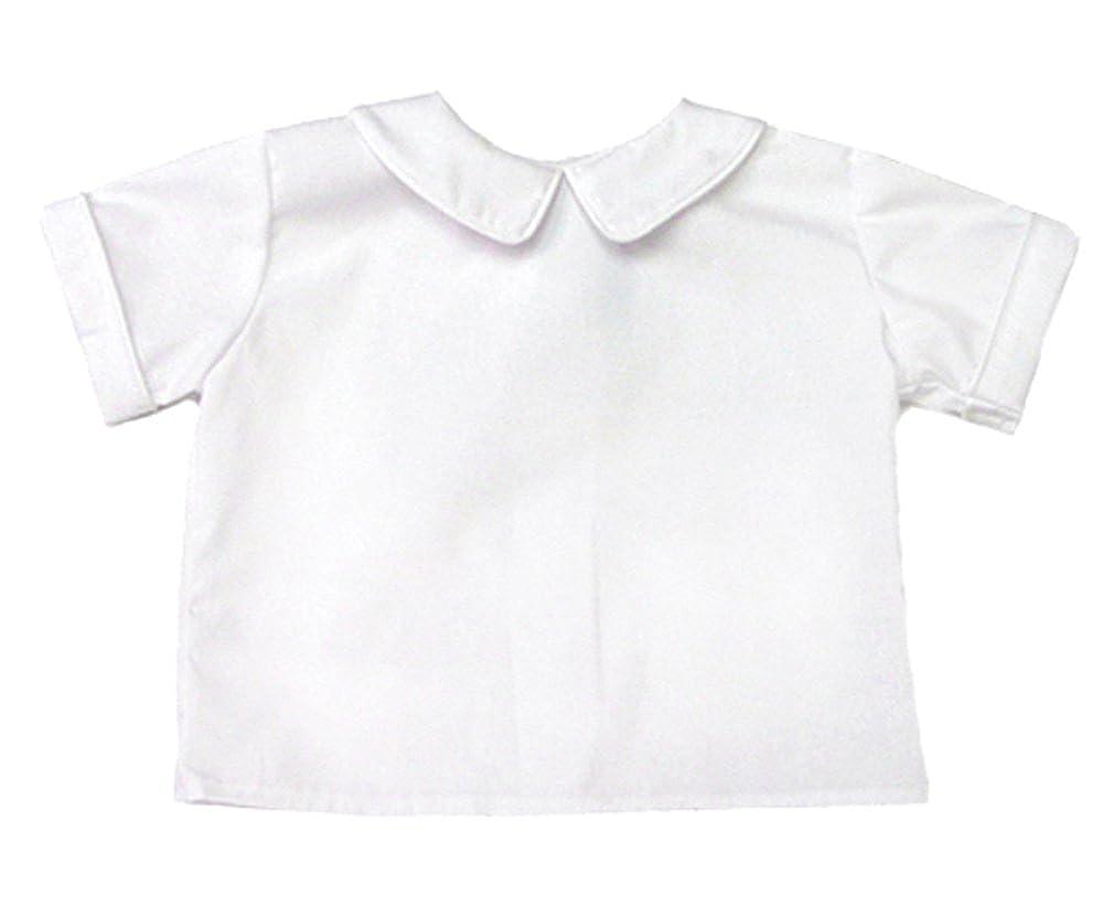Funtasia Too Boys Short Sleeve Back Button Shirt White