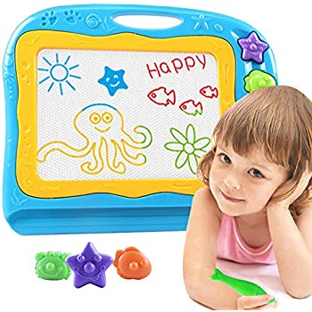 Pizarrones Mágicos para Niños Tablero de Dibujo Magnético Tableros Magna Doodle Juguete Cuaderno de Bosquejo de Escritura Borrable Pintura de Niña de Niño Pequeño Magnetic Drawing Board for Kids
