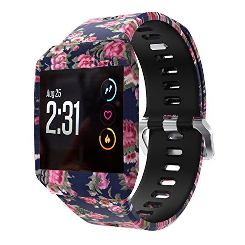 XiangMi Compatible Fitbit Ionic Bands,Soft Silicone Sport Breathable Replacement Accessories Bracelet Strap Band Ventilation Holes Compatible Fitbit Ionic Smart Fitness Watch Women Men