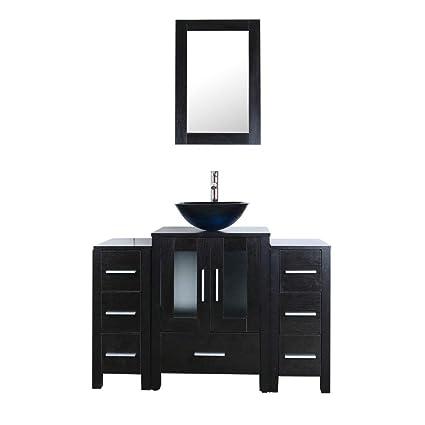 Goodyo 48Inch Modern Bathroom Vanity Cabinet Set With Blue
