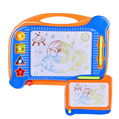 - 2 Magnetic Drawing Board, Doodle Drawing Board for Toddlers, Toddler Learning Toys for Writing, Sketching, Travel Toys for Kids Birthday Gift