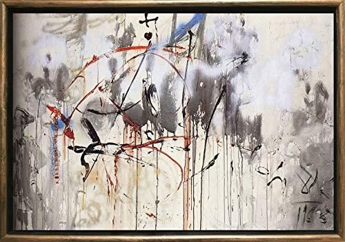 LUXURYFRAMEDART Startonight Arte Enmarcado, Bronce Abstracto Salvador Dali Reproduccion, Cuadro sobre Lienzo 50 x 70 cm Decoracione Cuantica