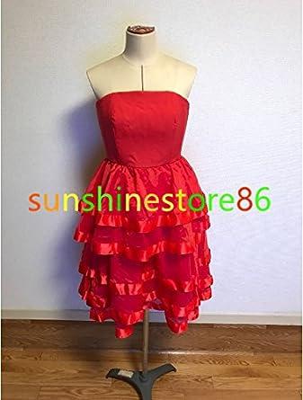 「ノーブランド品」豪華修正版 安室奈美恵 BIRTHDAY 赤ドレスコスプレ衣装 全