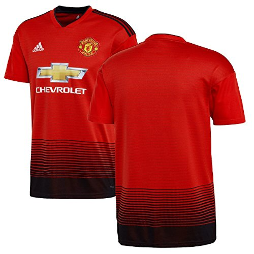 adidas World Cup Soccer Manchester United Soccer Manchester United FC Home Jersey, Large, Real Red