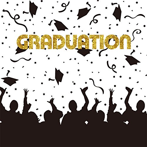 LFEEY 8x8ft Graduation Photo Backdrop Students Grads 2018 2019 Prom Senior Year Party Photography Background Photo Booth Prop