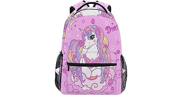 Mochila Escola,Dream Unicorn Horse Moon Mochilas para ...