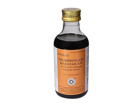 Aceite de pelo ayurvédico Nilibhringadi Keratailam de Arya Vaidya Sala