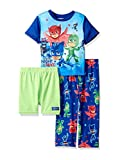 PJ Masks Toddler Boys 3 piece Shorts Pajama Set (4T, Blue/Green)
