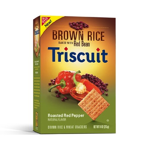 Nabisco, Triscuit, Brown Rice Baked with Red Bean, Roasted Red Pepper, 9-Ounce Box (Pack of 4) (Nabisco Roasted Crackers compare prices)