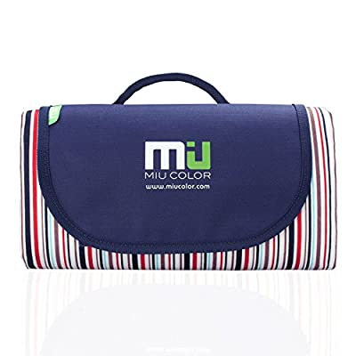 Large Waterproof Outdoor Blanket by MIUCOLOR, Sandproof Picnic Blanket for Camping Hiking Grass Travelling - Dual layers