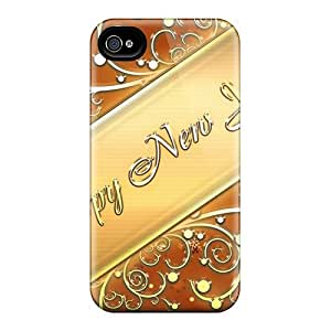 Iphone 6 Cases Covers - Slim Fit Protector Shock Absorbent Cases (happy New Year In Gold)