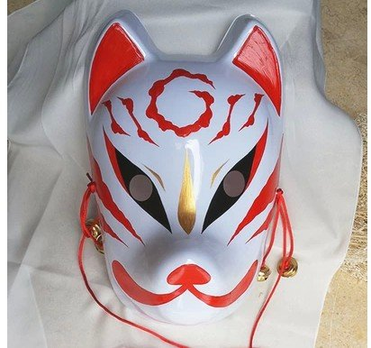Japanese Style Hand Painted Fox Pvc Mask 2