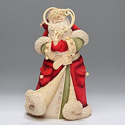 Enesco Heart of Christmas Santa with Smoke Wreath Figurine, 8-1/4-Inch