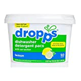 Dropps Dishwasher Detergent Pacs, Lemon, 50 Loads