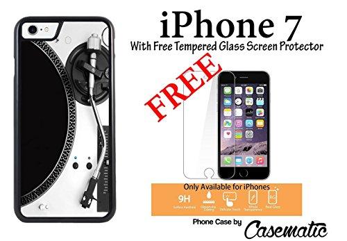 iPhone 7 Case Turntable Plastic Black Protective Phone Case