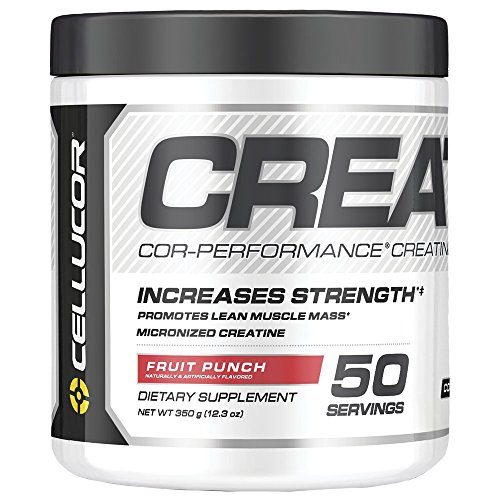 (Cellucor Micronized Creatine Monohydrate Powder, COR-Performance Series, Fruit Punch, 50 Servings)