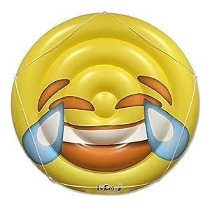 Emoji Swimming Pool Float   Tears of Joy Emoticon   Huge 60 Inch Raft   Cool For Pool Parties