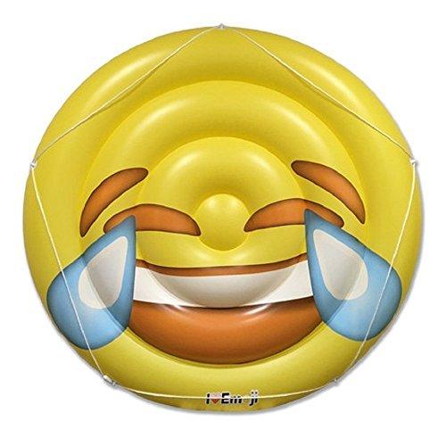 Emoji Swimming Pool Float | Tears of Joy Emoticon | Huge 60 Inch Raft | Cool For Pool Parties