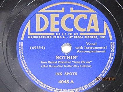 Ink Spots Nothin Somebodys Rockin My Dreamboat 78 Rpm Vinyl Record