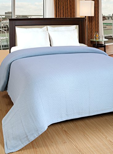 Cotton Thermal Blanket Lt Blue 90x90 (Bedding Chevron Walmart)