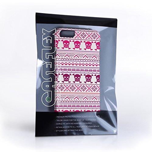 Caseflex iPhone 6 / 6S Hülle Rosa Fair Isle Totenkopf Hart Schutzhülle