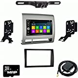 Otto Navi DVD GPS Navigation Multimedia Radio and Dash Kit for Toyota Tacoma 2006-2011 Silver with Back up camera and extra