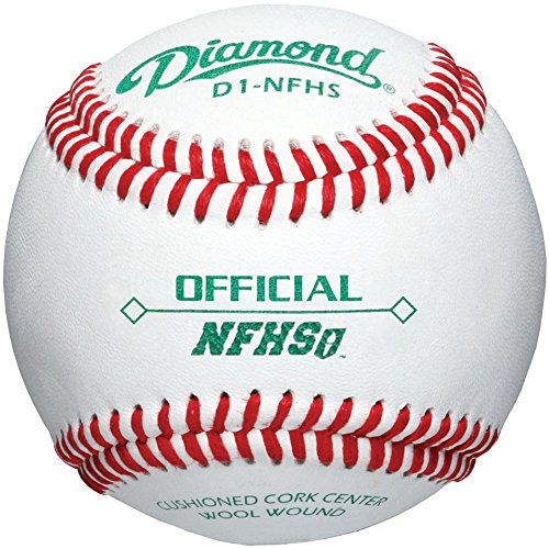 Diamond D1-Nfhs Leather Baseballs 12 Ball Pack by Diamond Sports