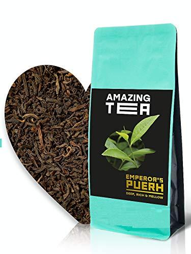 Amazing Tea | Emperor's Puerh – Black Ripe Pu'erh Loose Leaf Tea – Classical Chinese 100% All Natural Pure Coffee…