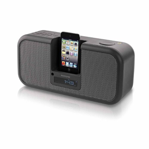 Memorex MA9310MS Stereo Speaker System for iPod and iPhone, Mesh