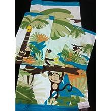 3 Piece Monkey Bath Hand Tip Towel Set Jungle Palm Tree