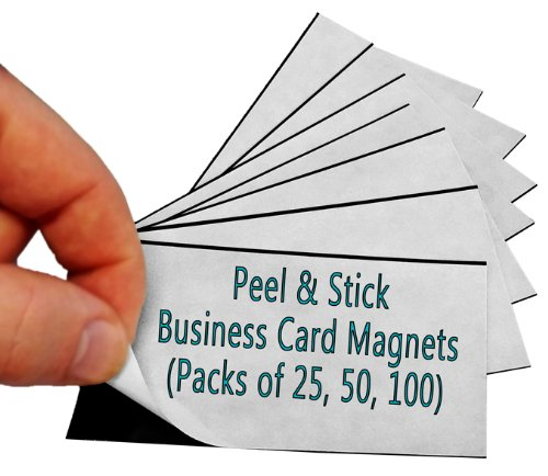 Marketing Holders 100 Adhesive Magnetic Business Card Magnets by Marketing Holders