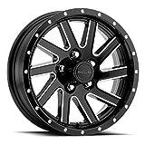 #4: 15x5 820M Twisted Black Aluminum Trailer Wheel 5x4.5