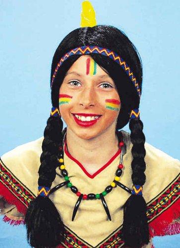 Kinder Perucke Apache Zum Indianer Kostum An Karneval Fasching