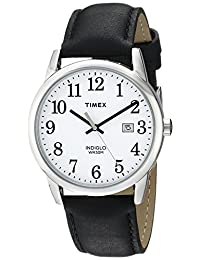 Timex Men's TW2P756009J City Collection Watch With Black Faux-Leather Band