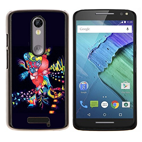 Planetar ( Dance Disco Lights Colorful Art Party City ) Motorola Droid Turbo 2 / Moto X Force Hard Printing Protective Cover Protector Sleeve Shell Case Cover ()
